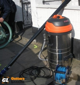 gutter cleaning machine used in London