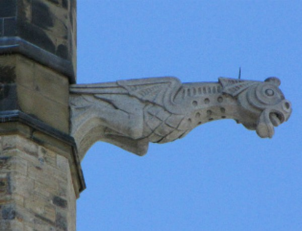 Dragon-ish grotesque on Peace Tower, Ottawa