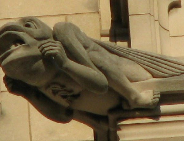 Washington human-like gargoyle
